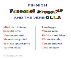 For beginners: an introduction to the Finnish personal pronouns.  Are you a beginner in Finnish? Check out these 3 forms for the personal pronouns. Trust me, you will need them.  The nominative, the partitive and the accusative for the Finnish personal pronouns (persoonapronominit)