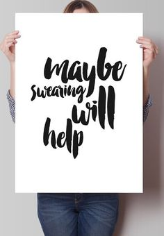 This realistic print:   27 Things For People Who Have Run Out Of Fucks To Give