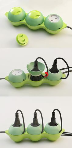 The 'Arrangement PEA' is a multi-tap power extension which offers one simple solution for tidying up cables directly on the unit...  READ MORE at Yanko Design!