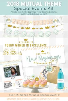 Peace in Christ - 2018 lds youth theme printables.  This kit has amazing decor.  It has things for New Beginnings and Young Women in Excellence too! www.theredheadedhostess.com
