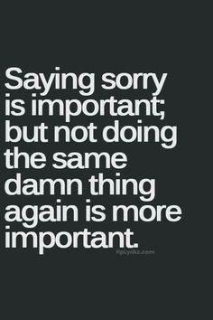 Then to say you don't like the situation but always return to it and feel like I should accept it