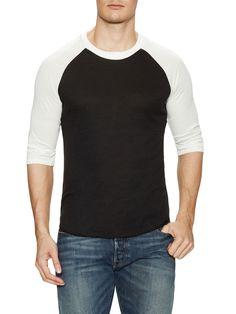 ALTERNATIVE APPAREL COLORBLOCK BASEBALL SHIRT. #alternativeapparel #cloth #