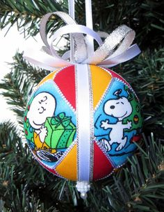 snoopy and charlie brown christmas ornament by ornamentdesigns fabric christmas ornaments quilted ornaments ornaments - Snoopy Christmas Ornament
