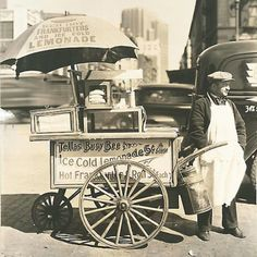 Hot Dog Stand West St. and North Moore Manhattan by Berenice Abbott,1936