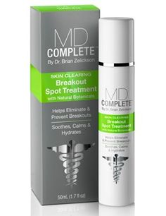 MD Complete Skin Clearing Breakout Spot Treatment with Natural Botanicals #MDComplete #skinclearing #acne #breakouts #breakoutremedy #spottreatment #natural #skincare #beautyproduct #BPO