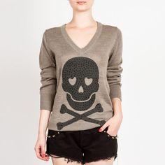 Blusa de tricot skull M.Officer #sweater #skull
