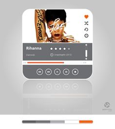 Music Player Flat UI by Gala Turman, via Behance
