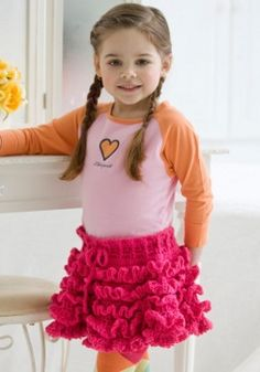The strawberry truffles skirt is a cute #crochetpattern made with rows of adorable crocheted ruffles.