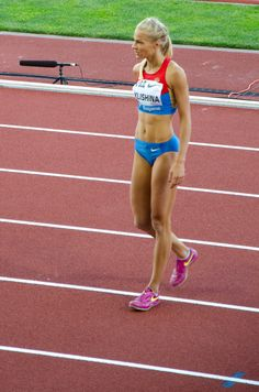 """And the contestant in the """"Running In Lycra Briefs"""" Stakes is this lady.proving women can do sports too Darya Klishina, Online Personal Training, Sporty Girls, Track And Field, Athletic Women, Female Athletes, Wasting Time, Sports Women, Personal Trainer"""