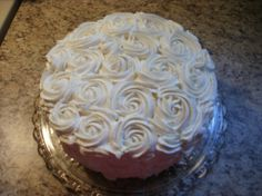 I like this technique for whipped cream cakes