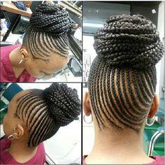 Natural Bun Hairspiration. #braid #braids #naturalhair #natural #blackhair #african #teamnatural #hair #blackbeauty #hairstyle #hairstylist #hairstyles #beautiful #naturalhairdaily #melanin #curls #naturalhaircommunity #haironfleek #kinkycurly #curl #hairspiration #nappyhair #black #brown #naturallycurly #bun #hairbun