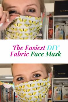 The Easiest DIY Fabric Face Mask
