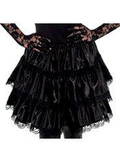 Adult Black Ruffled Skirt