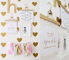 sarah m style: let's get crafty: glitter hanger.