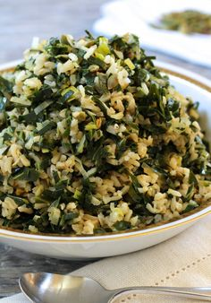 Dirty Rice with Collards and Leeks {vegan and gluten-free} - Letty's Kitchen