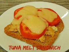 Tuna Melt Sandwich with cheese and tomatoes