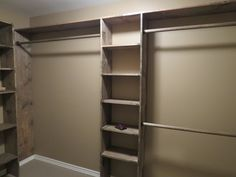 $150 for lumber - Walk-in closets: No more living out of laundry baskets!