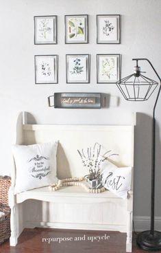 DIY Framed Botanical Prints with Free Botanical Printables for spring decor Diy Projects On A Budget, Easy Diy Projects, Framed Botanical Prints, Botanical Decor, Botanical Drawings, Upcycle Home, Repurpose, Diy Frame, Interiores Design