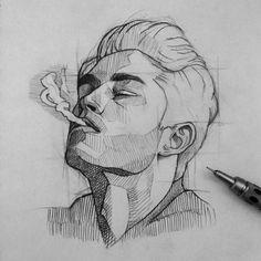 Portrait Art Time Travel - Page 6 of 40 Dark Art Drawings, Pencil Art Drawings, Art Drawings Sketches, Illustration Au Crayon, Arte Sketchbook, Drawing People, Portrait Art, Art Inspo, Art Reference