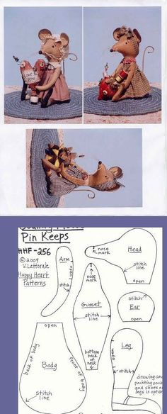f282a46ad56eafb736843e88b5ad86cc.jpg 396×981 pixels Plushie Patterns, Craft Patterns, Doll Patterns, Poupée Primitive, Cute Mouse, Fabric Toys, Sewing Dolls, Sewing Accessories, Beren