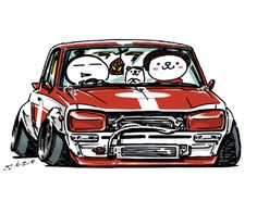 car illustration crazy car art jdm japanese old school fc original