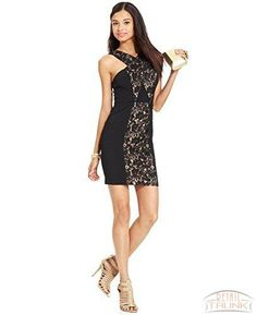 a35df96576e City Studios Juniors  Lace-Panel Dress