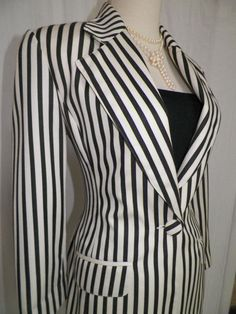 Vintage French EMANAUEL UNGARO striped woolblend by LuxLoveVintage, $68.00
