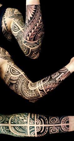 maori sleeve - Google Search #polynesiantattoosforearm