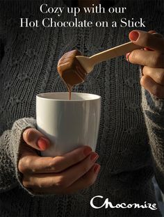 Our Hot Chocolate on a Stick is our twist on an old classic!  Available in White, Milk and Dark Chocolate with over 10 flavors, this portable pure chocolate cube is a decadent treat that can be enjoyed anywhere!    Looking to send this as personal or corporate holiday gift? We offer custom personal and corporate options for bulk orders on our single, 3 pack and 6 pack Hot Chocolate on a Stick.
