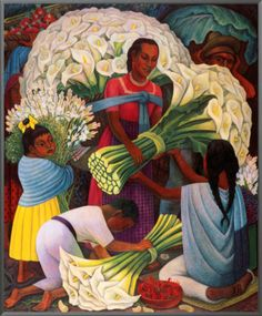 The Flower Vendor by Diego Rivera ~ one of my favorite artists of all time