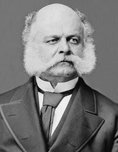 """The term """"sideburns"""" is a corruption of """"Burnside"""", after General Ambrose Burnside (above and below), a Union General in the American Civil War, who sported unusual facial hair."""