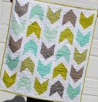 Pow Wow Baby Quilt Kit in Gray, Teal, and Chartreuse Green