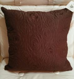 "How Fancy this Newport Layton Home Fashions Dark Brown Complete #Throw Pillow 20""x20"" still has original tags on it.  Its has a stitched front and a satiny dark brown back.  Pillow has an invisible zipper design on one of the side seams. Sixteen. See more at SherriesLuckyQualityFinds.com"