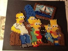 The Simpsons perler bead sprite by by RedditISaidIt