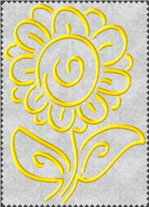 Free Embroidery Design: One Color Flower - I Sew Free