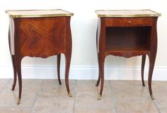 A Pair of Kingwood Bombe Side Tables | From a unique collection of antique and modern side tables at https://www.1stdibs.com/furniture/tables/side-tables/