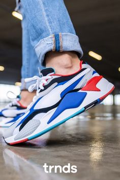 Puma RS-X3 Puzzle Puma White/Dazzling Blue for Men. Striking ...