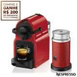 (FAST) Nespresso Inissia Rubi + Aeroccino 3 Vermelho + R$200 em café -(R$397 + frete)