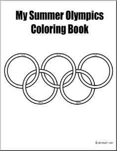 Summer Olympics Coloring Book. Kid-Friendly, ten pages of the  most popular Summer Olympics sports. #olympics #summer #coloring_book