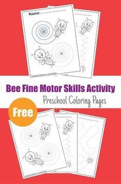 Bee Activities Preschool Coloring pages,Free Printable Fine Motor Tracing worksheets pre-writing activity Printable Preschool Worksheets, Tracing Worksheets, Free Preschool, Printable Coloring, Kids Worksheets, Kindergarten Worksheets, Free Printables, Writing Activities For Preschoolers, Activities For 5 Year Olds