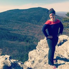 Great hike today at hanging rock. I was holding back tears in this pic bc I had just cracked my head on a tree. Haha. Never a dull moment!! #workout #fitness #move #nature #weightloss
