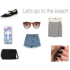 """Let's go to the beach"" by alinebrehier on Polyvore"