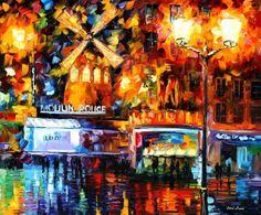 Moulin Rouge PALETTE KNIFE Oil Painting On por AfremovArtStudio, $249.00