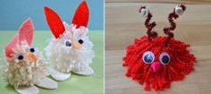 hogyan lehet állatokat a pom poms gyerekeknek (7)