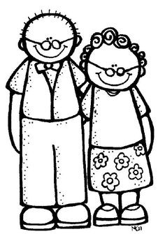 Grandparents Clipart - Clipart Suggest Colouring Pages, Coloring Books, Grandparents Day Crafts, Grandparent Gifts, Art Clipart, Stick Figures, Digi Stamps, Easy Drawings, Doodle Art