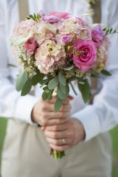 Pink & Shabby Chic Wedding Bouquet Photo by: laurenalbanesephotography.com