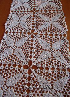 Crochet Stitches Chart, Crochet Motif Patterns, Crochet Lace Edging, Granny Square Crochet Pattern, Crochet Diagram, Crochet Squares, Filet Crochet, Crochet Doilies, Crochet Placemats