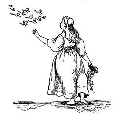 The Wild Swans -- Jean O'Neil -- Fairytale Illustration
