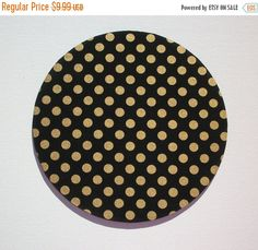 Sale  Mouse Pad mousepad / Mat  round  Shiny gold polka by Laa766