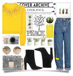 """""""#301"""" by vilte-m ❤ liked on Polyvore featuring Topshop, Miu Miu, Allstate Floral, Gianvito Rossi, Jimmy Choo, Grandin Road, Godinger and Jayson Home"""